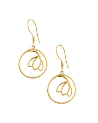 Exquisite Floral 925 Sterling Silver Hook Earrings | Rs. 900 | http://voylla.com