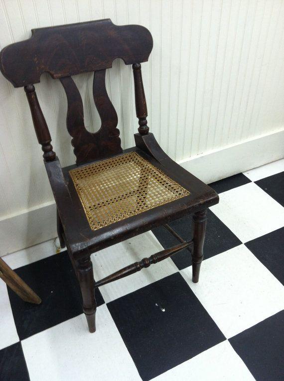 6 Antique American Empire Dining Chairs Farmhouse Decor Scandinavia Style HOme