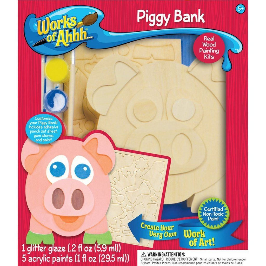 Piggy Bank - Wood Painting Kit