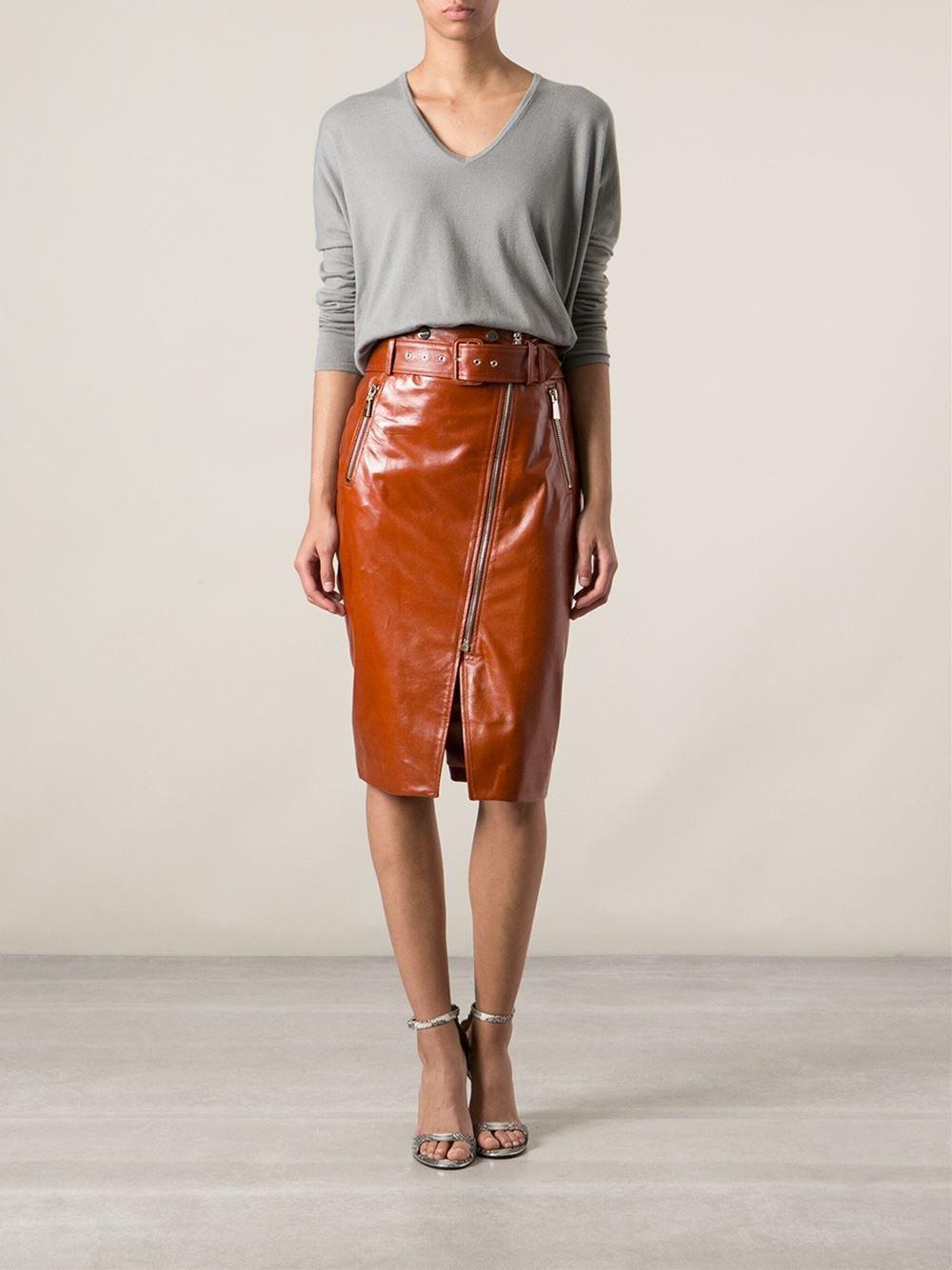 Jason Wu Leather Pencil Skirt - Apropos The Concept Store - Farfetch.com