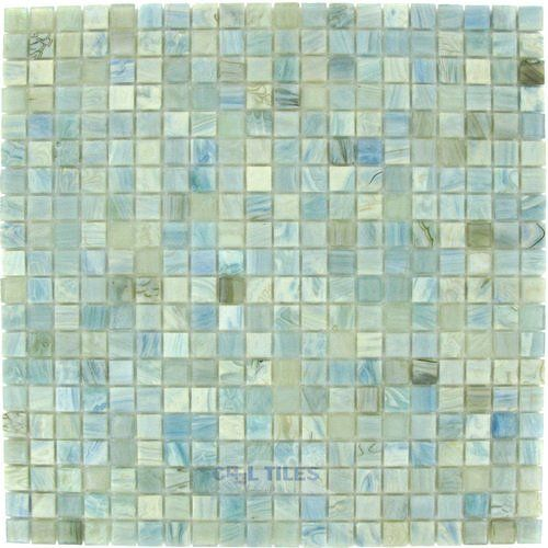 "Home > Tile > Mosaic Tiles: HotGlass - Calliope 5/8""  Glass Tile in Parasol 12 3/4"" x 12 3/4"" Mesh Backed Sheet"