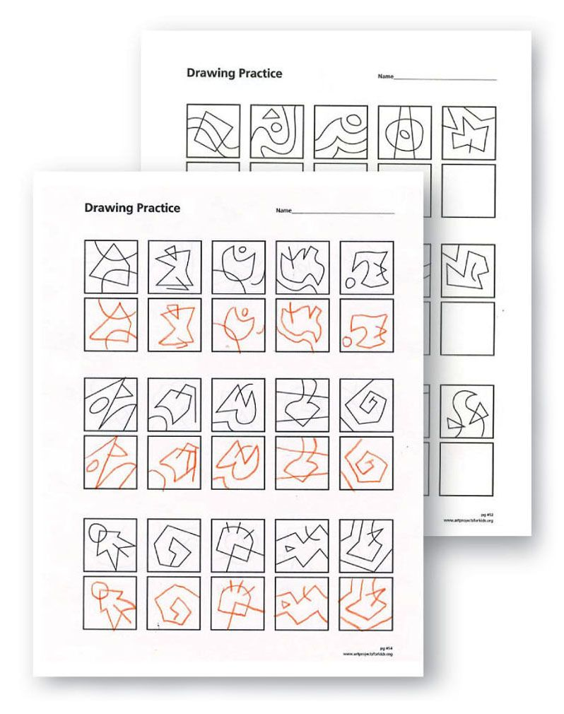 50 Warm Up Drawing Practice Sheets. Great for sharpening drawing skills, both before or after class. $5 for 50-page pdf file.