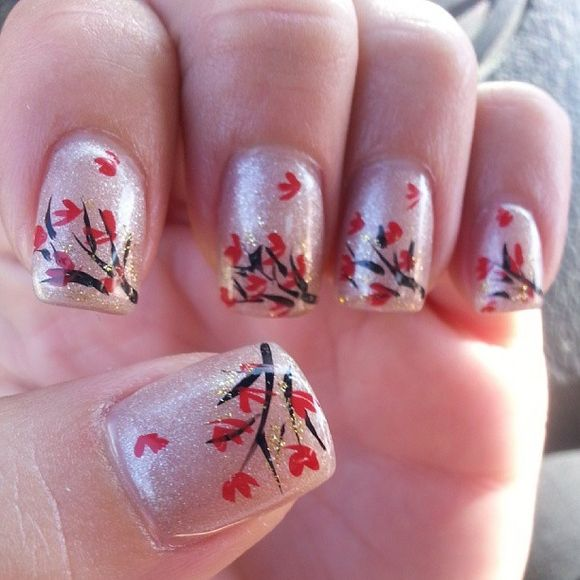 Gorgeous Autumn Inspired Nails: 60 Fall Inspired Nail Designs: Leaves, Owls, Pumpkins