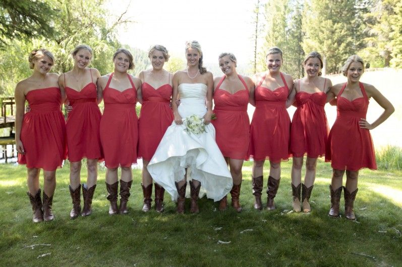 719e1897c1f Country Wedding in Montana | She's Gone Country | Bridesmaid dresses ...