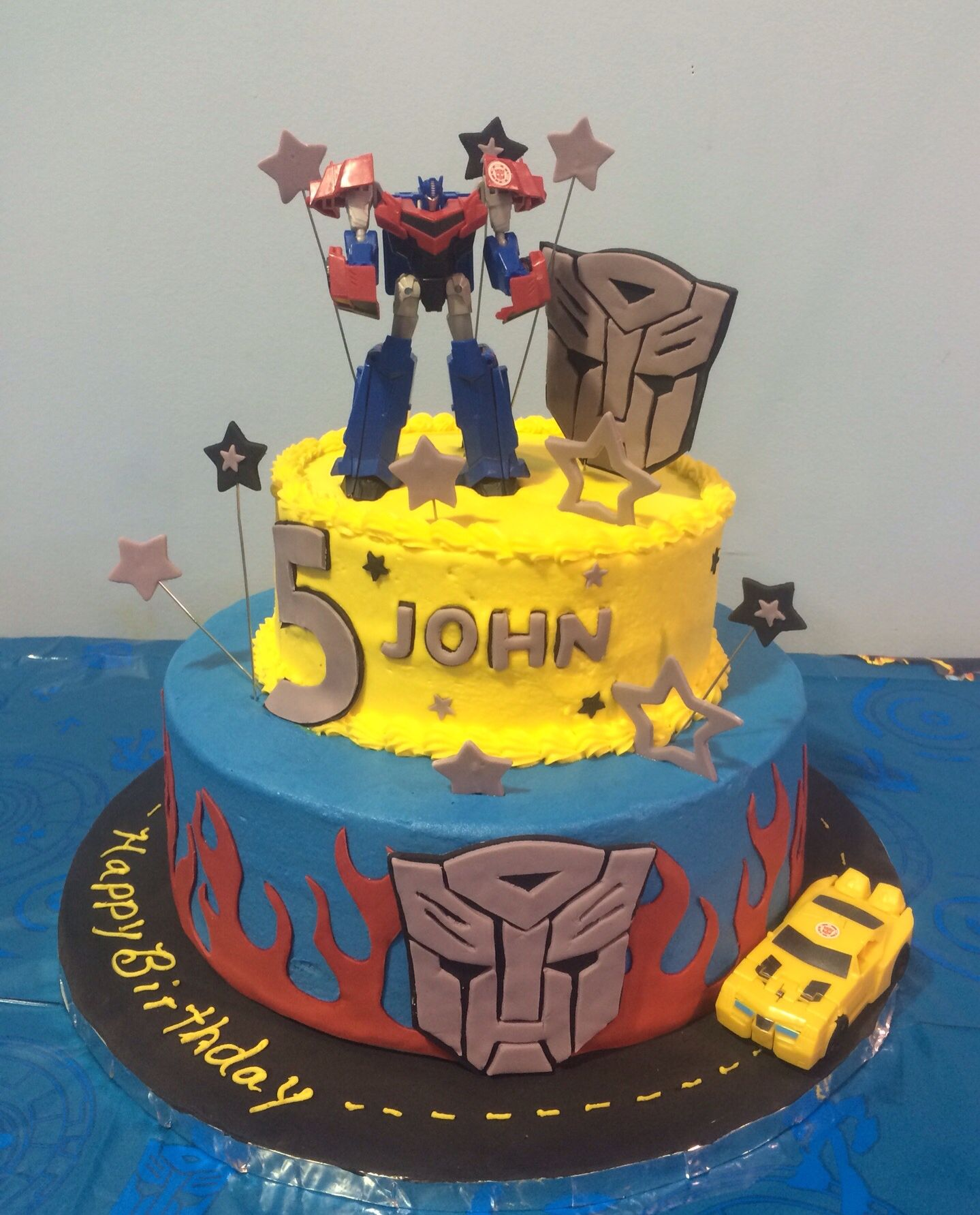My Grandsons 5th Birthday Cake Transformers