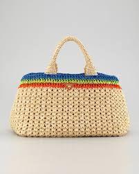 Risultati Immagini Per Borse Rafia Prada 2016 Crochet Bags Borse