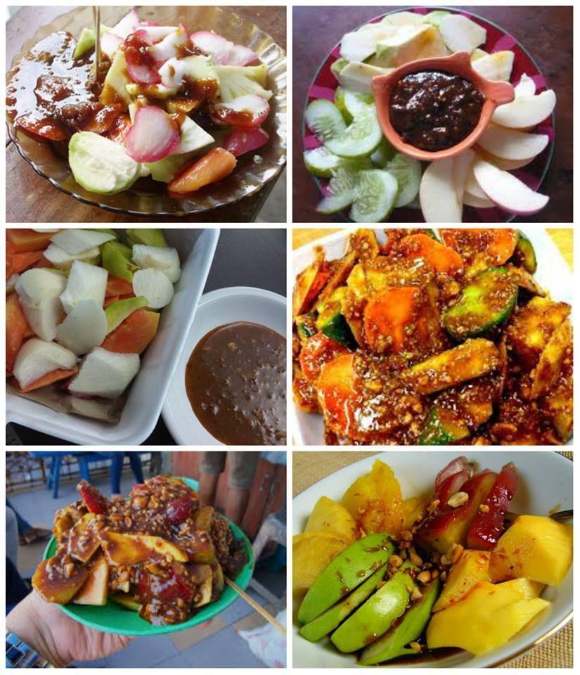 Bermacam Macam Rujak Uleg Khas Medan Indonesia Buah Segar Makanan Makanan Dan Minuman