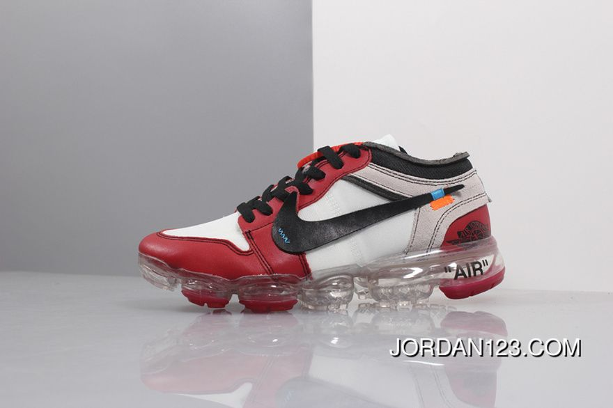 f2c283f3826 Off White X Air Jordan 1 X Air VaporMax White Red AA3839 Discount ...
