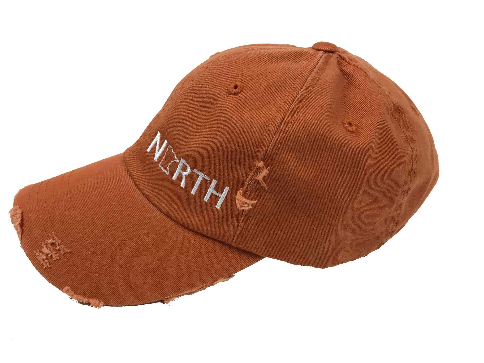 North Baseball Cap // Distressed Orange