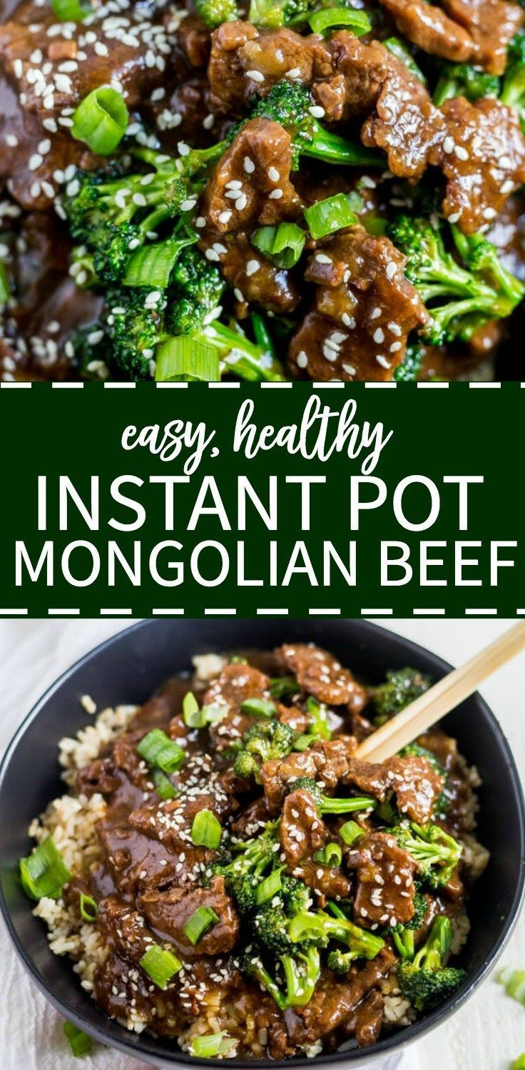 Healthy Instant Pot Mongolian Beef images