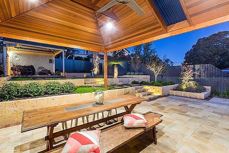 The split-level backyard has been completely transformed ... on Split Level Backyard Ideas id=65246