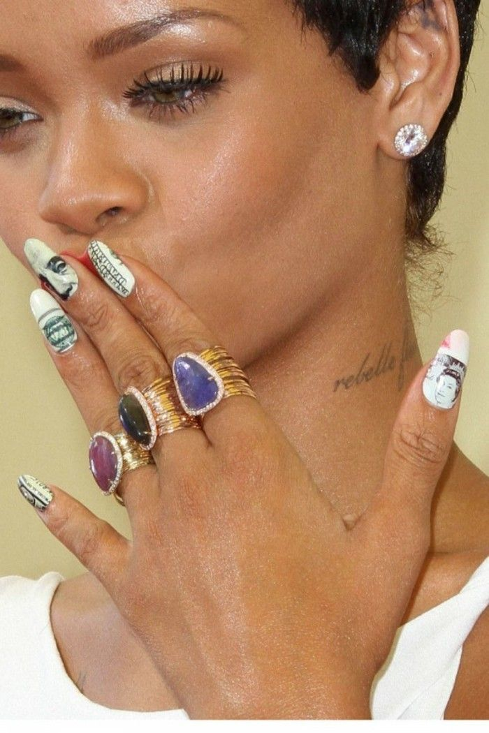 Inspiring Rihanna Nail Designs Lange Frisuren Pinterest