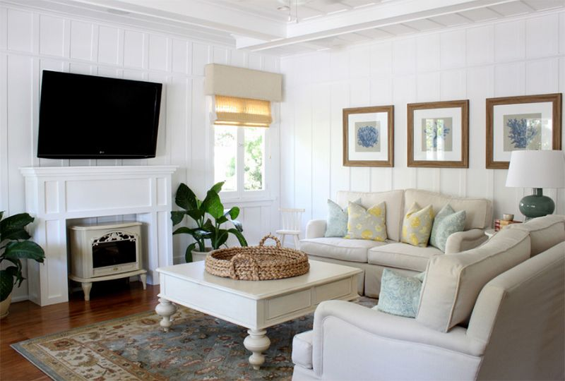 22 Beach Themed Home Decor In The Living Room Home Design Lover Cottage Style Living Room Cottage Living Rooms Living Room Orange