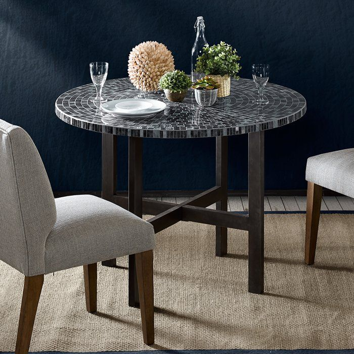 The Colors Of Nature Come Together In The Glass Tiles Of Inkivy Interesting Mosaic Dining Room Table Review