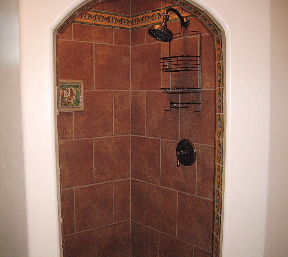 fleur de lis saltillo tile with the same terra cotta saltillo tile