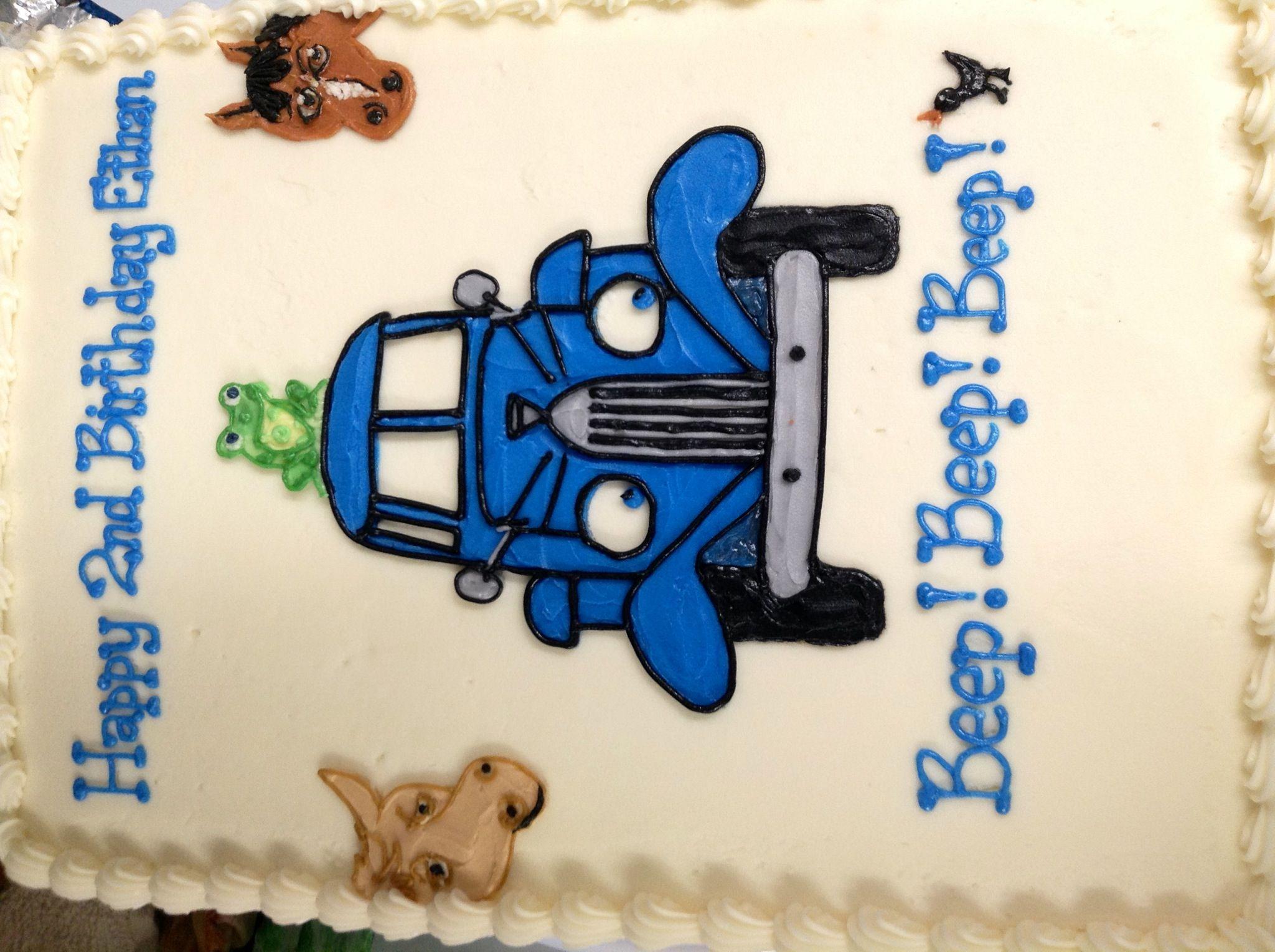 Little Blue Truck Sheet Cake With Images Little Blue Trucks