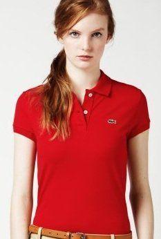 04cdc745 Lacoste Women's Short Sleeve 2 Button Stretch Pique Polo -White ...