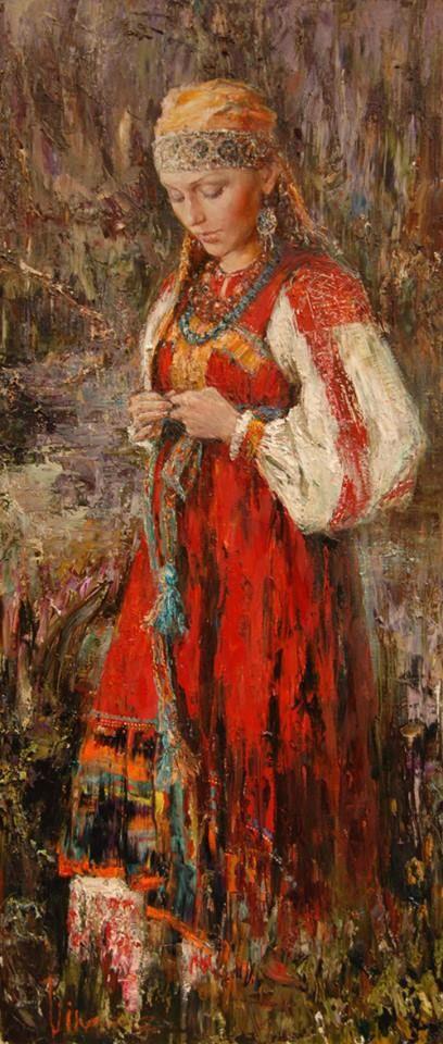 Русский стиль художницы Анны Виноградовой.