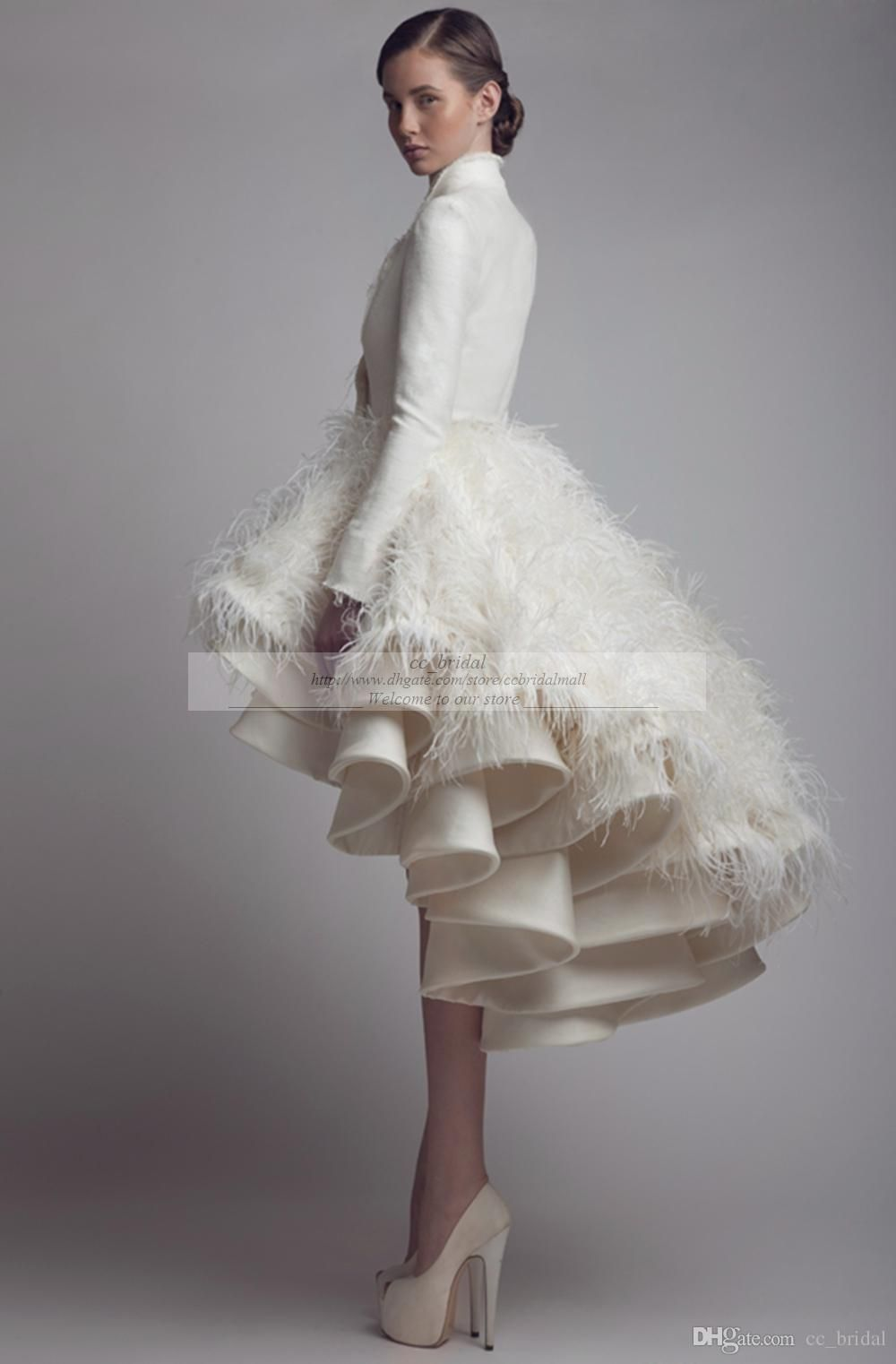Winter wedding dresses plus size  Discount Designer Krikor Jabotian High Low Wedding Dresses High