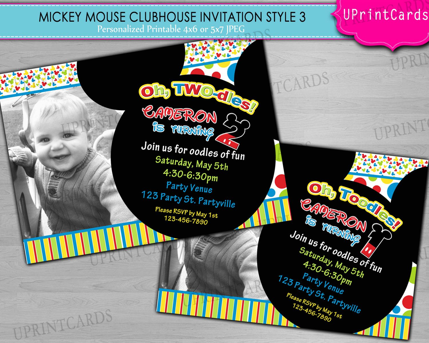 Mickey Mouse Clubhouse Party Ideas Homemade | DIY PRINTABLE - Mickey ...