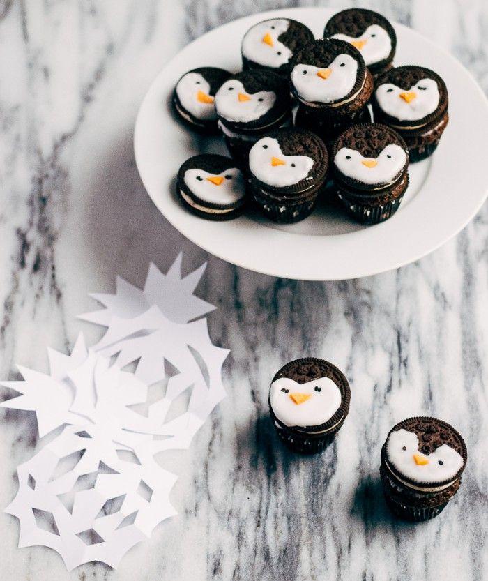 oreo pinguin cupcakes als mitgebsel f r einen. Black Bedroom Furniture Sets. Home Design Ideas
