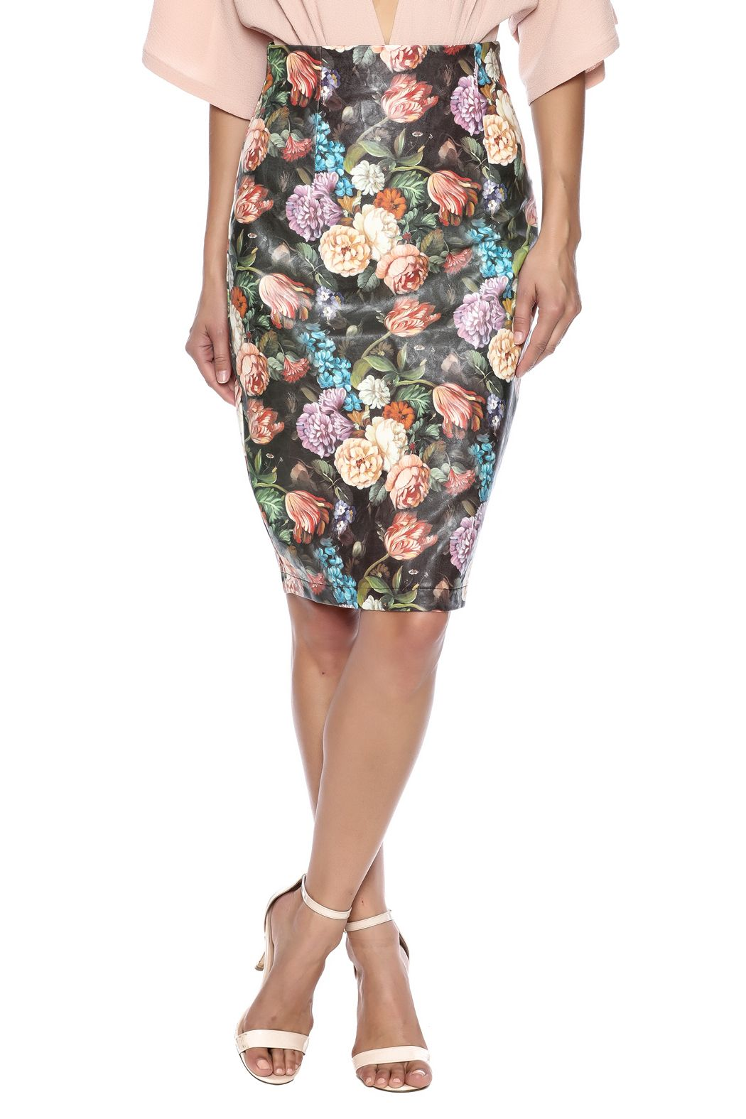 Jealous Tomato Floral Pencil Skirt | Floral pencil skirt, Printed ...