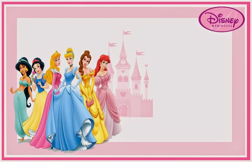 Disney Princess Free Printable Invitations, Cards or Photo Frames - free printable birthday card template