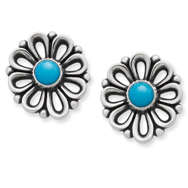 e0a3aaff22656 New De Flores Ear Posts with Turquoise from James Avery Jewelry ...