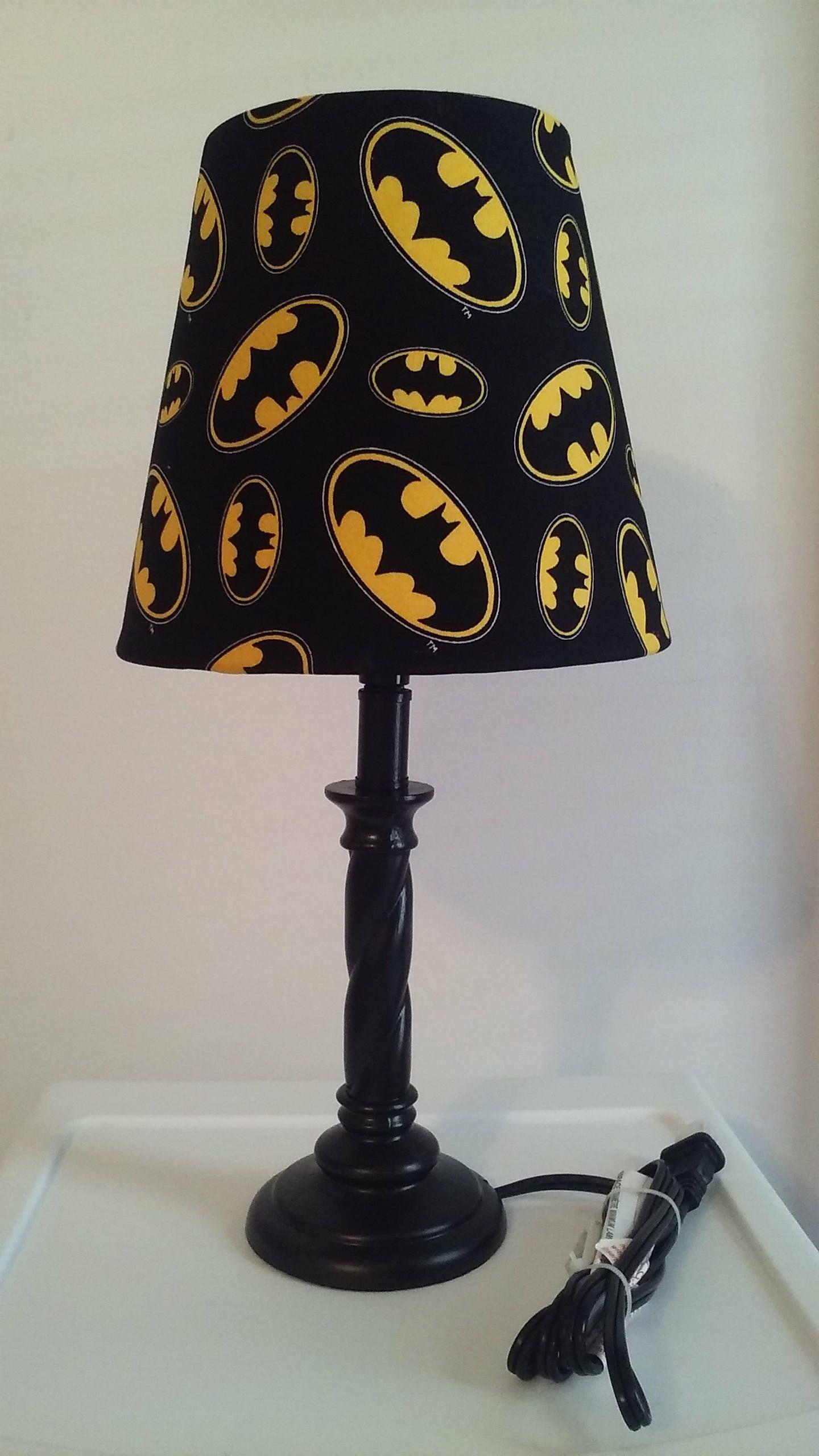 Wonderful Batman Lamp, Kids Lamp, Bedroom Lamp, DC Comics, Superheroes By  SunshneLadysEmporium On