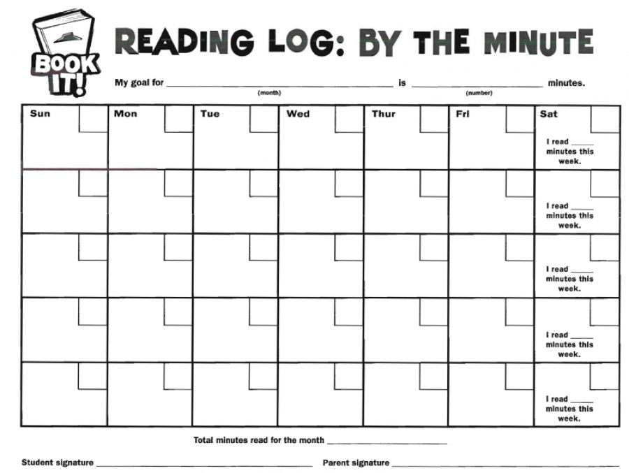Book It Reading Log By the Minute organization Pinterest - printable classroom seating chart