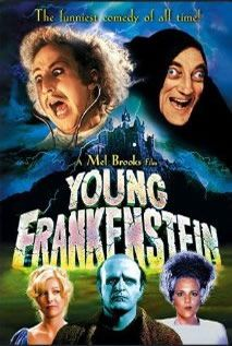 Young Frankenstein (1974) | » Horror DVDs    Mel Brooks' monstrously crazy tribute to Mary Shelley's classic pokes hilarious fun at just about every Frankenstein movie ever made. Summoned by a will to his late grandfather's castle in Transylvania, young Dr Frankenstien soon discovers the scientist's step-by-step manual explaining how to bring a corpse to life. Assisted by the hunchback Igor and the curvaceous Inga, he creates a monster who only wants to be loved.
