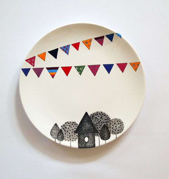 Village Wall Plate - Small size. $48.00 via Etsy. & Village Wall Plate - Small size. $48.00 via Etsy. | me as myself ...