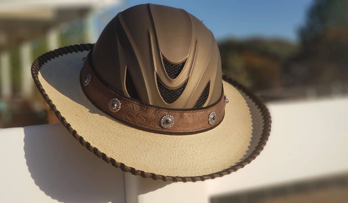 Shady Riders Part Helmet Part Cowboy Hat All Cool Every Ride Every Time Cowboy Hats Equestrian Outfits Hats For Men