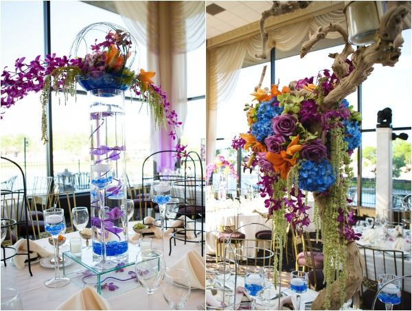 Exotic centerpieces of branches pink purple green blue flowers wedding flowers centerpieces branches pink purple green blue flowers 13 best free home design idea inspiration junglespirit Gallery