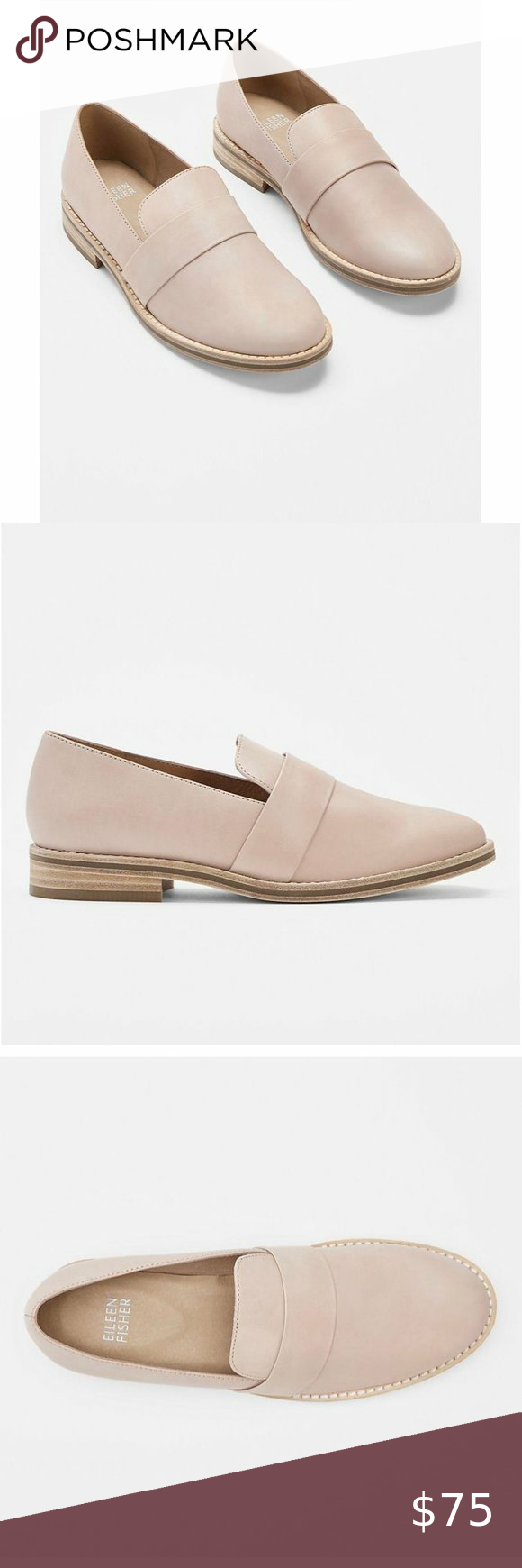 Eileen Fisher Hayes Leather Loafers