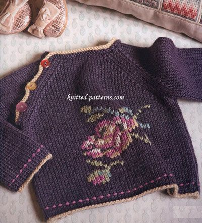 Rose Knitted Kimonog 400442 Knitting Pinterest Babies