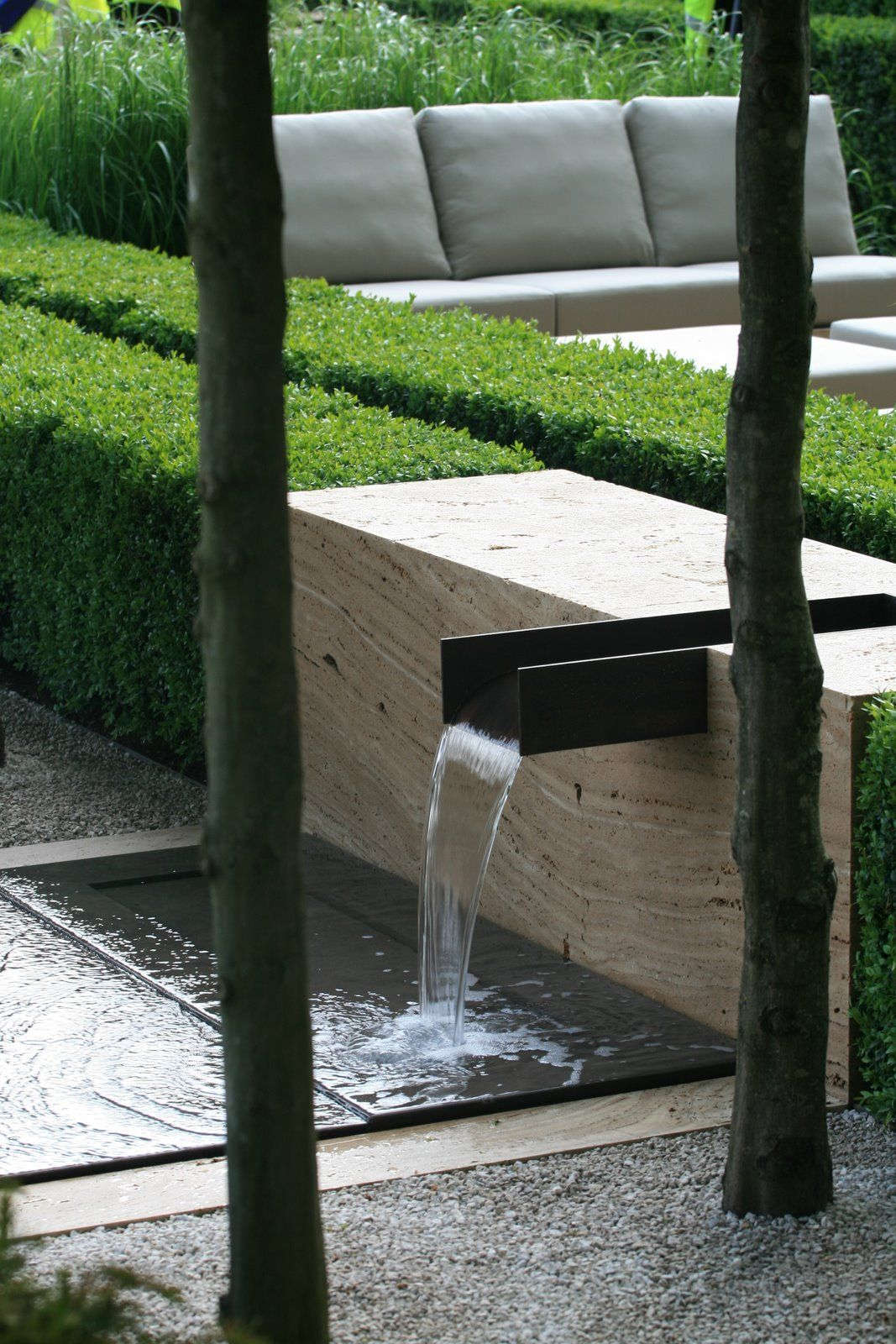 Pin On Waterfall Contemporary garden water feature design