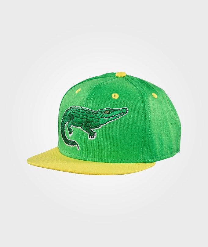 Croco Emb Cap Green ss-15