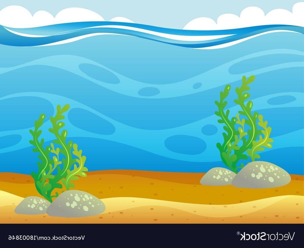 Best Cartoon Underwater Ocean Scene Vector Library Free Vector Art Cool Cartoons Ocean Scenes