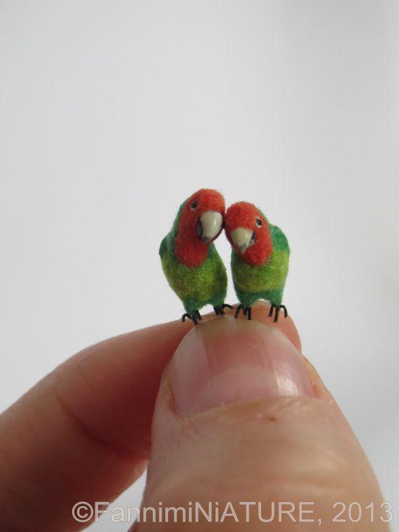 Dollhouse Miniature or Fairy Garden Splendid Grass Parakeet in 1:12 Scale