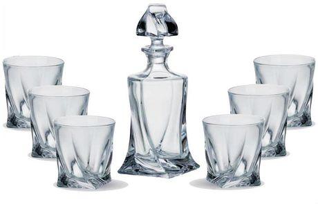 Crystalite Bohemia Quadro 7 Piece Whiskey Gl Set Clear In