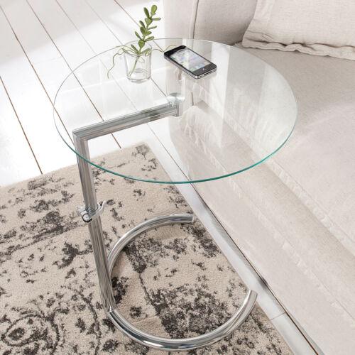 Details Zu Design Beistelltisch Effect 50 70 Cm Chrom Glas