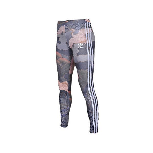 6faf80badbe Adidas Women's Originals Rita Ora Kimono Print Leggings ($45) ❤ liked on Polyvore  featuring pants, leggings, purple leggings, adidas jerseys, adidas pants,  ...