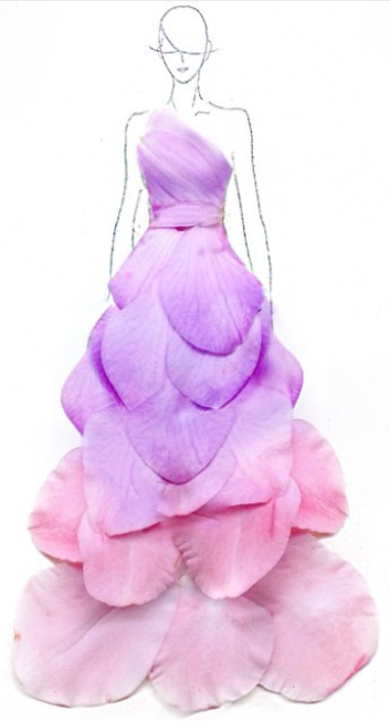 See Flower Petals Be Transformed In To Beautiful Whimsical Dresses Fashion Diy