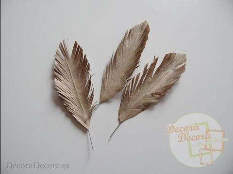 C mo hacer plumas de fantas a para decorar o hacer for Plumas para decorar