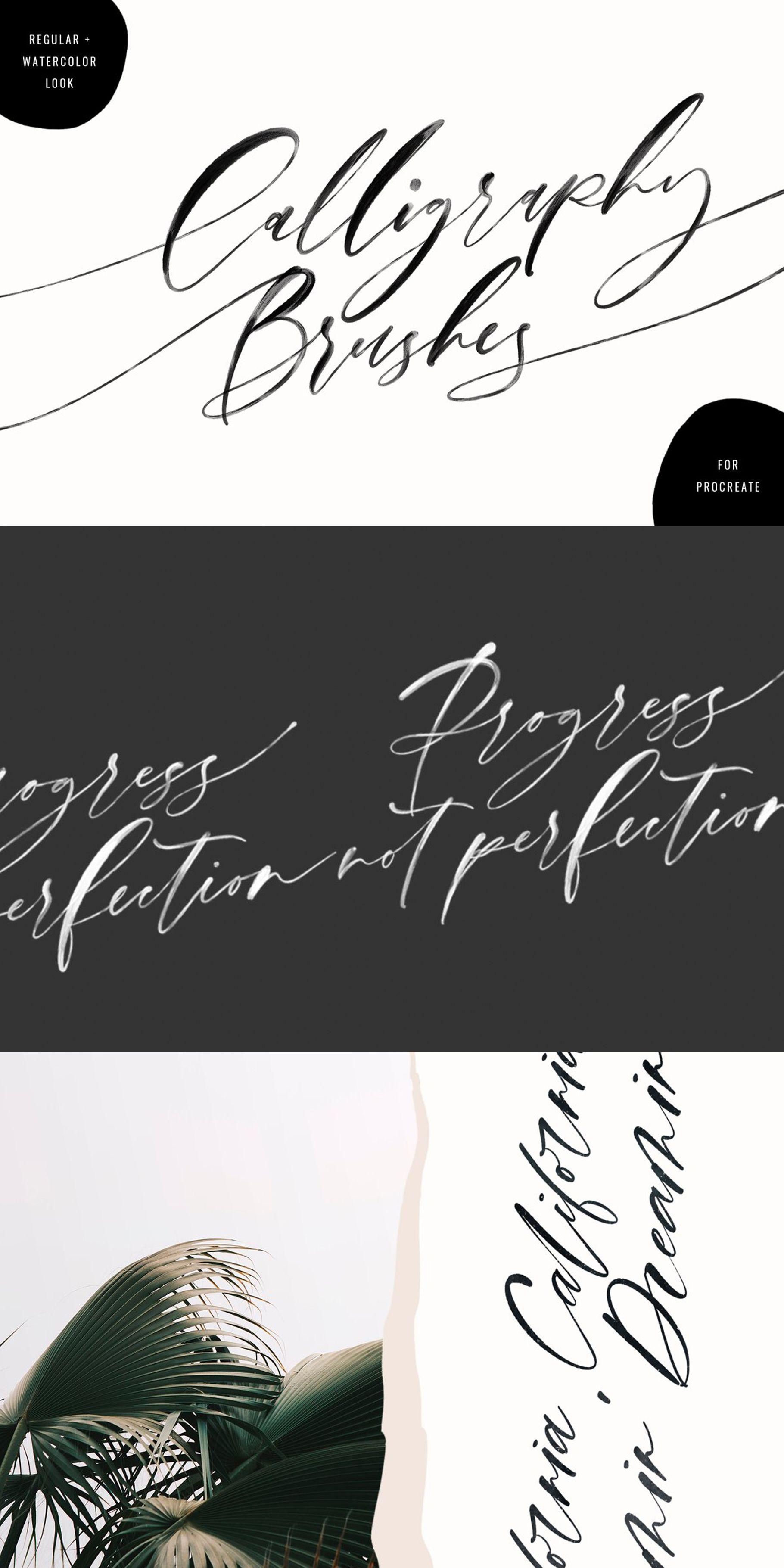Calligraphy Procreate Brushes Procreate lettering