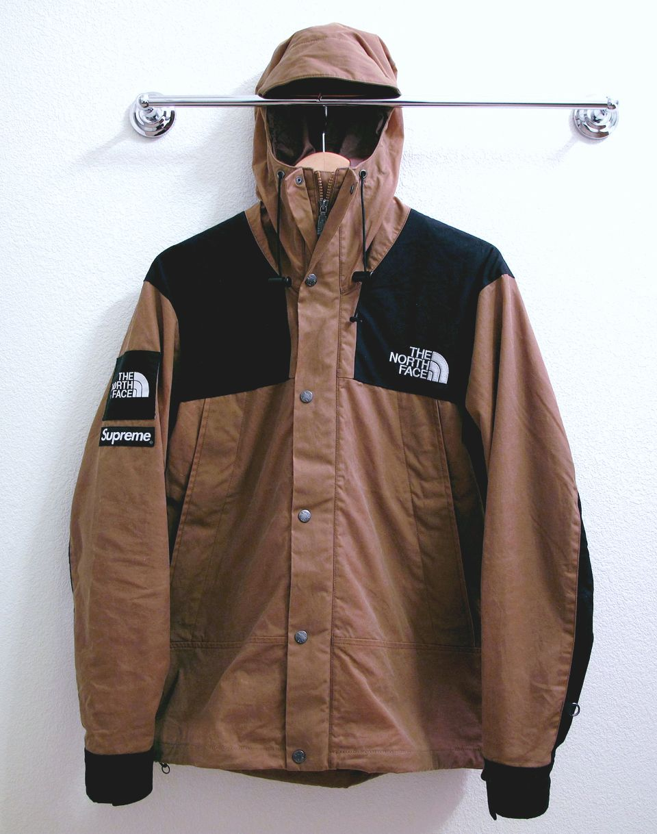 Shop black & brown Supreme The North Face Nuptse Jacket with