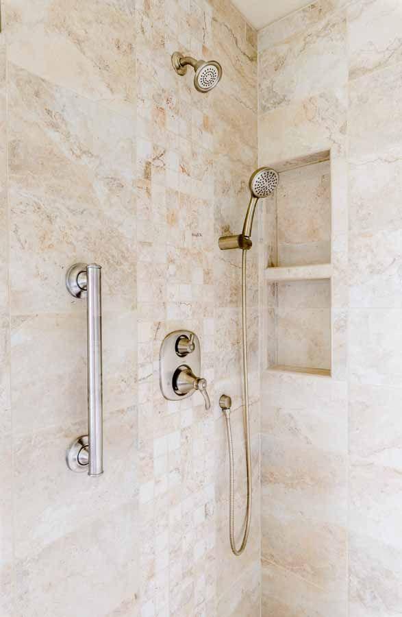 Peregrine Bathroom Remodel Colorado Springs Ethnos Huron Wall - Brushed nickel grab bars for bathrooms for bathroom decor ideas