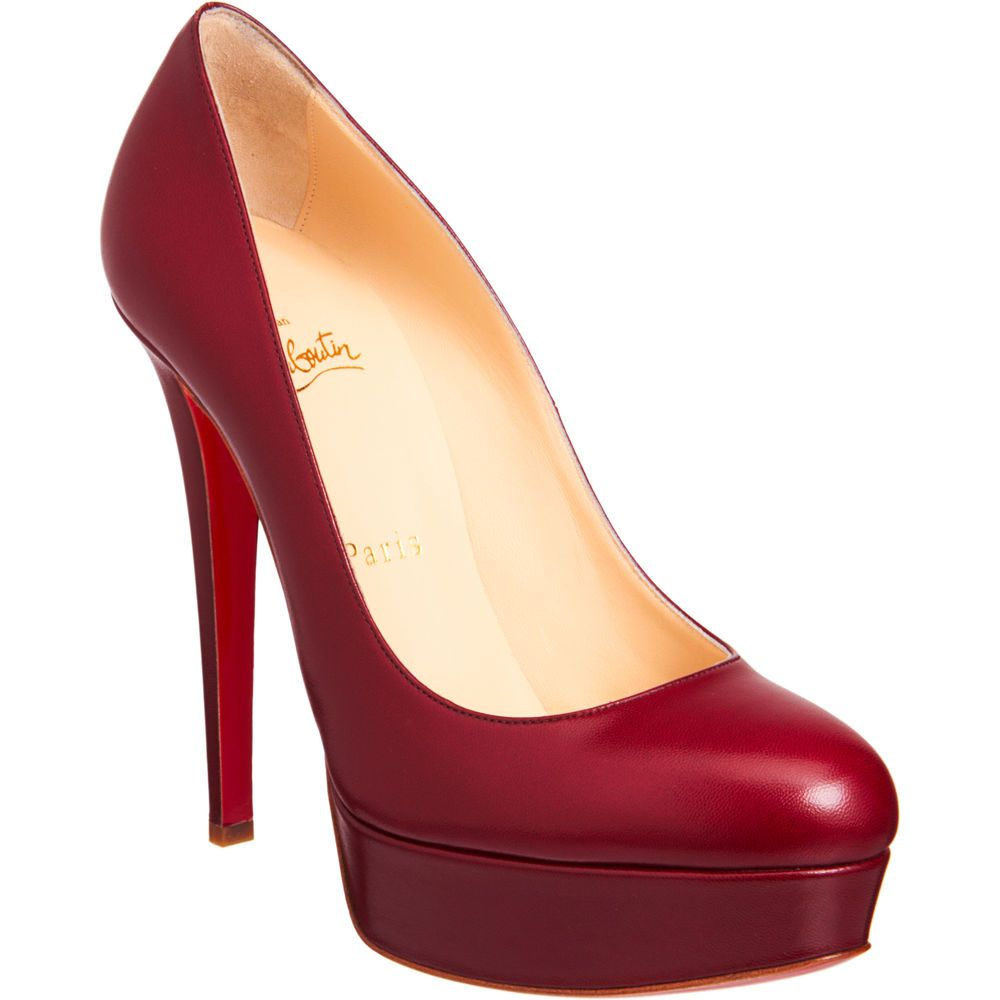 df5c8654649 Christian Louboutin 'Bianca' in dark red. (Very suitable for ...