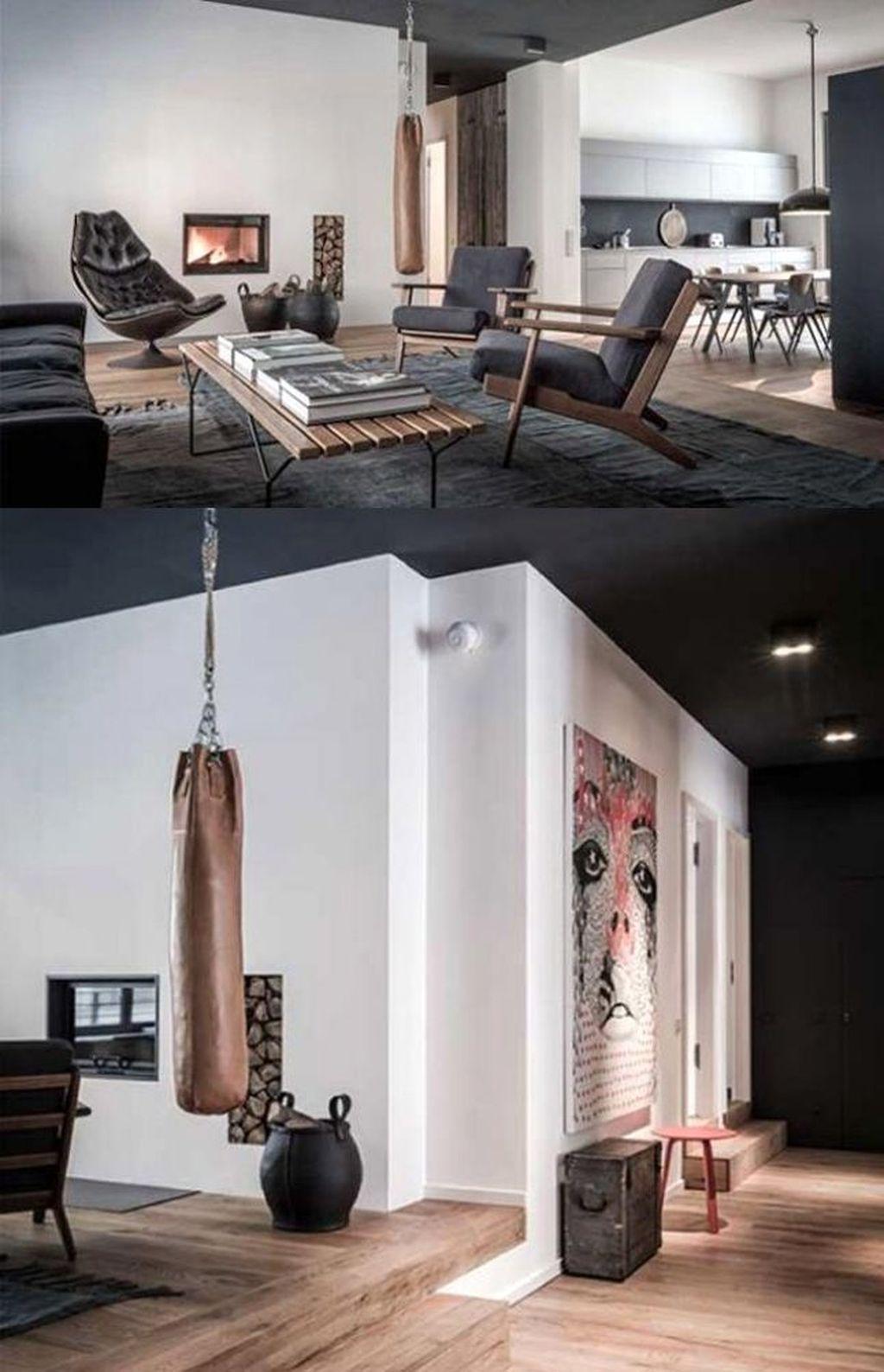 Living Room Apartment Men 46 Masculine Apartment Decorating Ideas For Men Livingroom Apartme Apartment Interior Apartment Interior Design Apartment Room